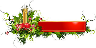 Bandeira do Natal   Fotos de Stock Royalty Free