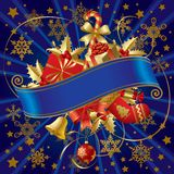 Bandeira do Natal ilustração royalty free