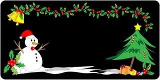 Bandeira do Natal Foto de Stock
