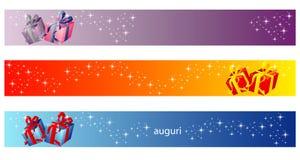 Bandeira do Natal - coleção do presente ilustração stock