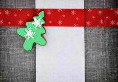 Bandeira do Natal com biscoitos Fotos de Stock