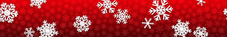 Bandeira do Natal com flocos de neve brancos Fotografia de Stock