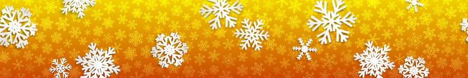 Bandeira do Natal com flocos de neve brancos Fotos de Stock