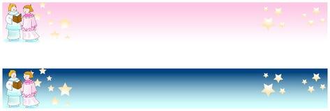 Bandeira do Natal e do ano novo Imagem de Stock