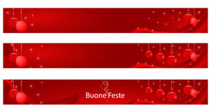 Bandeira do Natal e do ano novo Fotos de Stock