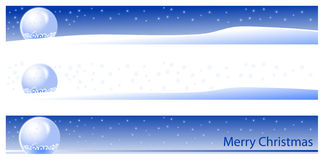 Bandeira do Natal e do ano novo Fotografia de Stock