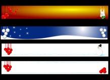 Bandeira do Natal e do ano novo Imagens de Stock Royalty Free