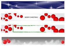 Bandeira do Natal e do ano novo Foto de Stock Royalty Free