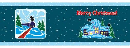 Bandeira do Natal, molde Fotos de Stock Royalty Free