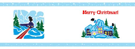 Bandeira do Natal, molde Fotografia de Stock