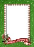 Bandeira do Natal na beira da manta Imagem de Stock Royalty Free