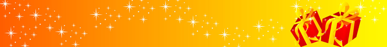 Bandeira do Natal - presente Imagens de Stock