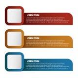 Bandeira do negócio para o design web, criativa para o Web site, vetor t Imagens de Stock Royalty Free