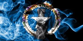 Bandeira do norte do fumo de Mariana Islands, bandeira dependente do território do Estados Unidos fotos de stock