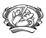 Bandeira do pão ilustração stock