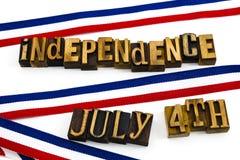 Bandeira do patriotismo da independência das ascendências do feriado Imagens de Stock