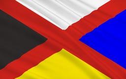 Bandeira do Pequim em China Imagens de Stock Royalty Free
