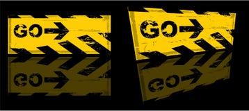 Bandeira do perigo de Grunge Imagem de Stock Royalty Free