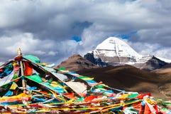 Bandeira do pico & da oração de Gangren Boqi Imagem de Stock