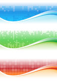 Bandeira do pixel Imagem de Stock