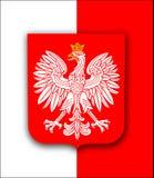 Bandeira do Polônia com águia Fotografia de Stock Royalty Free