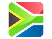 bandeira do quadrado 3D de África do Sul ilustração do vetor
