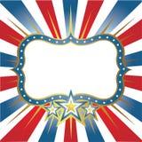 Bandeira do quadro com estrelas Foto de Stock Royalty Free