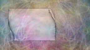Bandeira do quadro de mensagens do pergaminho do Grunge Imagem de Stock