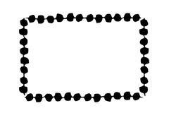 Bandeira do quadro pintado à mão com escova de tinta preta ilustração do vetor