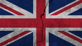 Bandeira do Reino Unido pintado na parede fotografia de stock