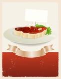 Bandeira do restaurante da carne vermelha Imagem de Stock