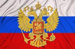 Bandeira do russo imagens de stock