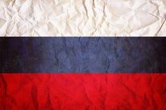 Bandeira do russo, fundo de papel enrugado do projeto Foto de Stock Royalty Free