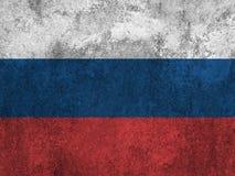 Bandeira do russo pintada na parede Foto de Stock