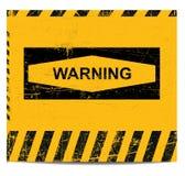 Bandeira do sinal de aviso Fotos de Stock