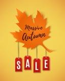 Bandeira do sumário da venda do outono Imagem de Stock