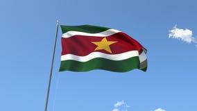 Bandeira do Suriname ilustração do vetor