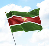 Bandeira do Suriname fotografia de stock