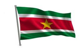 Bandeira do Suriname Uma série de bandeiras do ` do mundo ` O país - bandeira do Suriname Fotografia de Stock Royalty Free