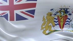 Bandeira do território antártico britânico que acena no vento, símbolo nacional da liberdade ilustração do vetor