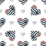 Bandeira do Território Britânico do Oceano Índico patriótica ilustração stock