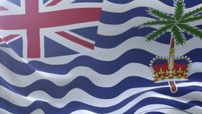 Bandeira do Território Britânico do Oceano Índico que acena no vento, símbolo nacional, liberdade ilustração stock