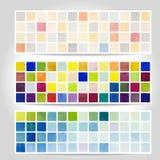 Bandeira do teste padrão do pixel da aquarela Fotografia de Stock Royalty Free