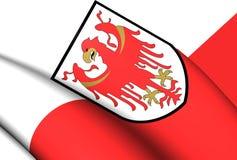 Bandeira do Trentino-alto Adige, Itália Imagem de Stock Royalty Free