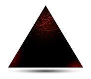 Bandeira do triângulo Foto de Stock Royalty Free