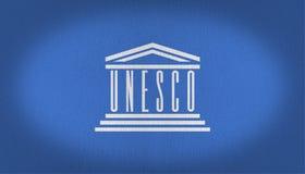 Bandeira do UNESCO Foto de Stock Royalty Free