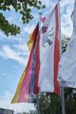 Bandeira do urso de Berlim Fotografia de Stock Royalty Free