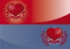 Bandeira do Valentim Imagem de Stock