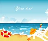 Bandeira do verão Imagens de Stock Royalty Free