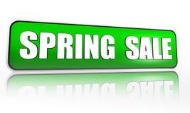 Bandeira do verde da venda da mola ilustração stock